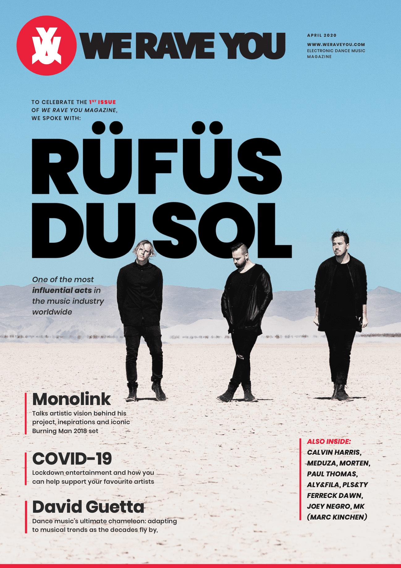 We Rave You Digital Magazine Cover April 2020