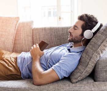 Listening to music relax