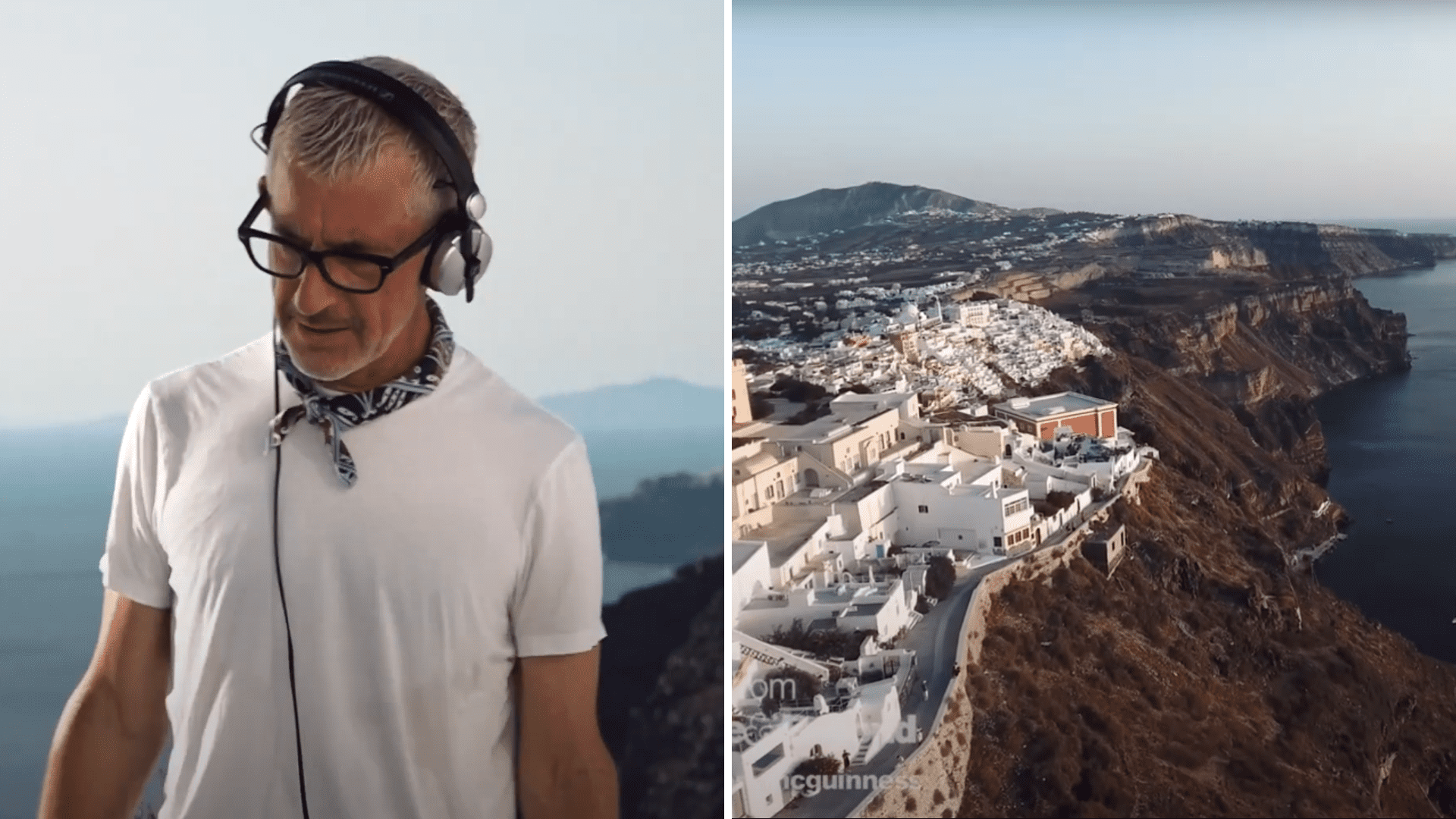 Tony, Above & Beyond, Santorini