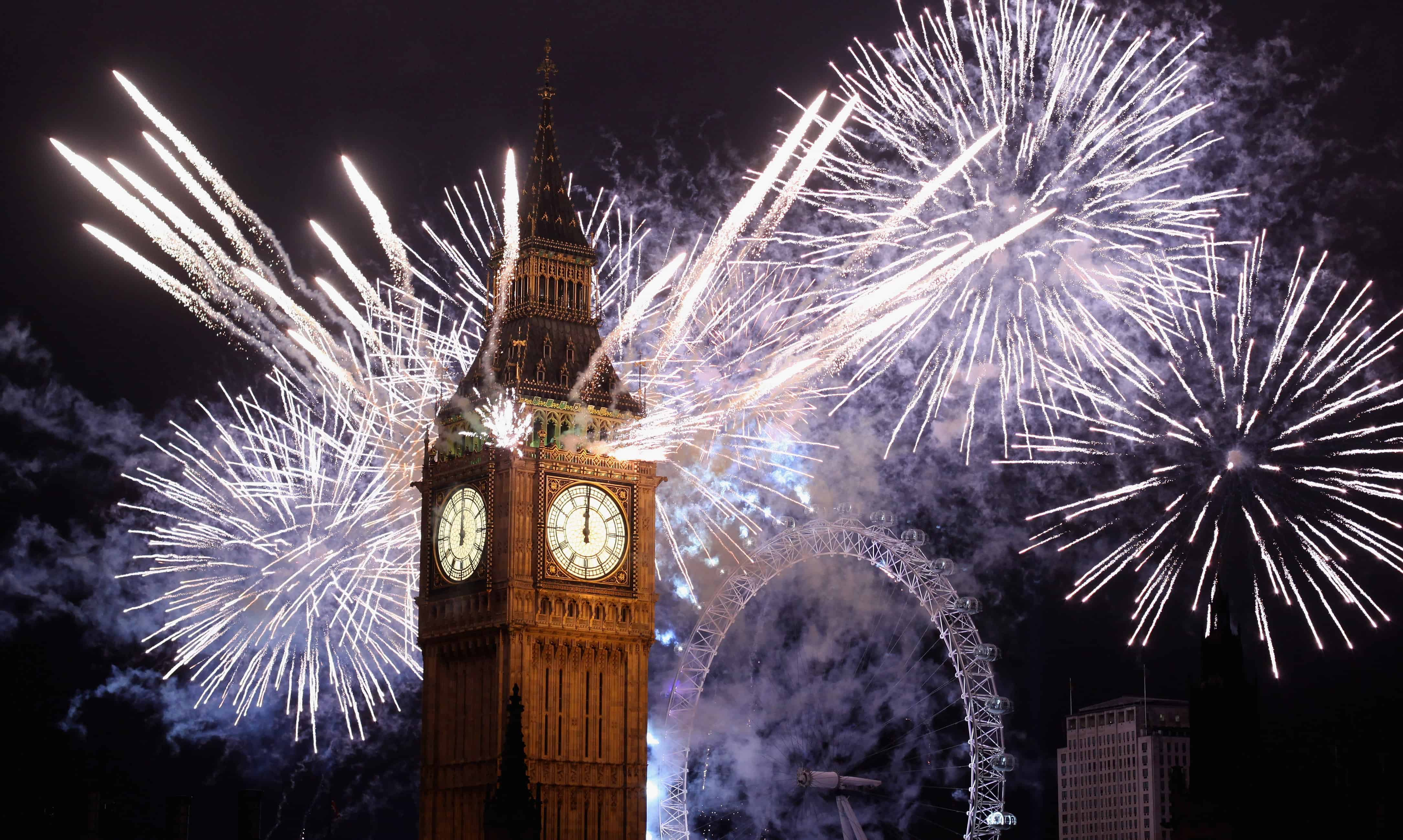 Big Ben London Fireworks UK New Year's Eve