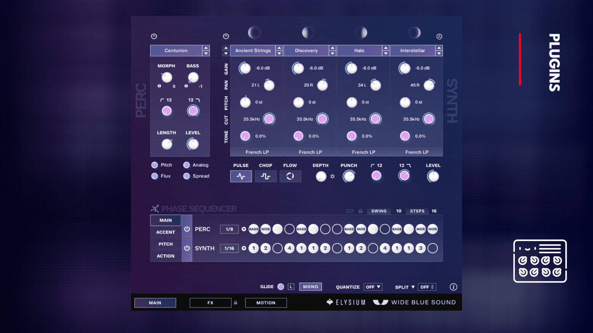 elysium vst plugin wide blue sound