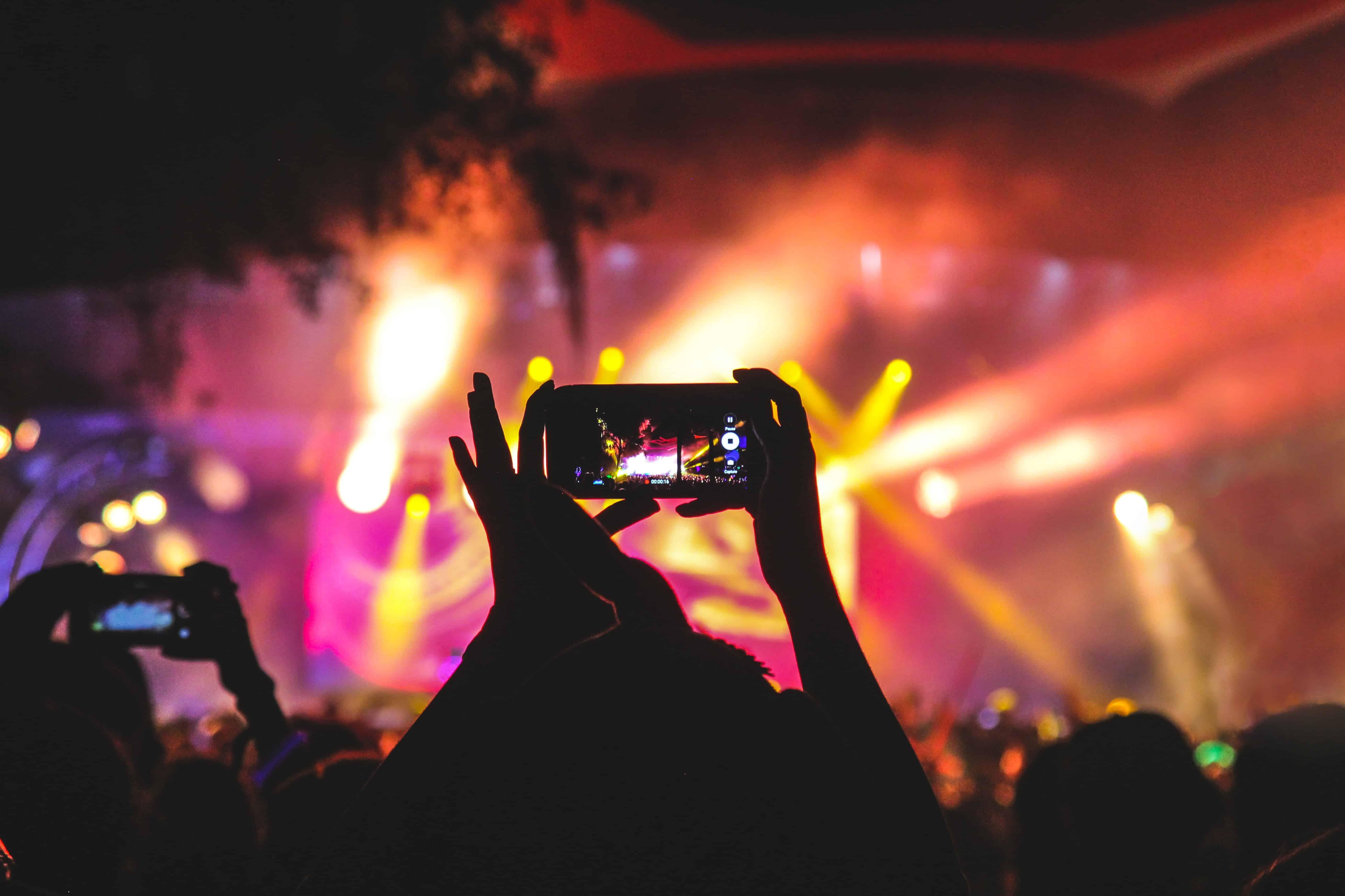 Festival Concert EDM filming