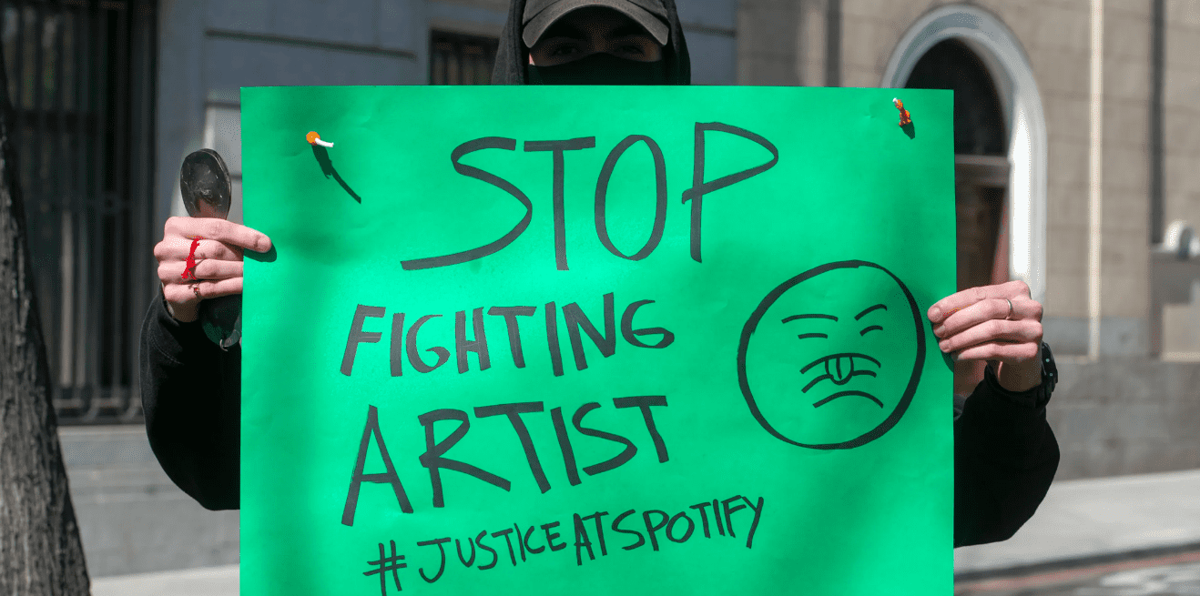 protest against Spotify