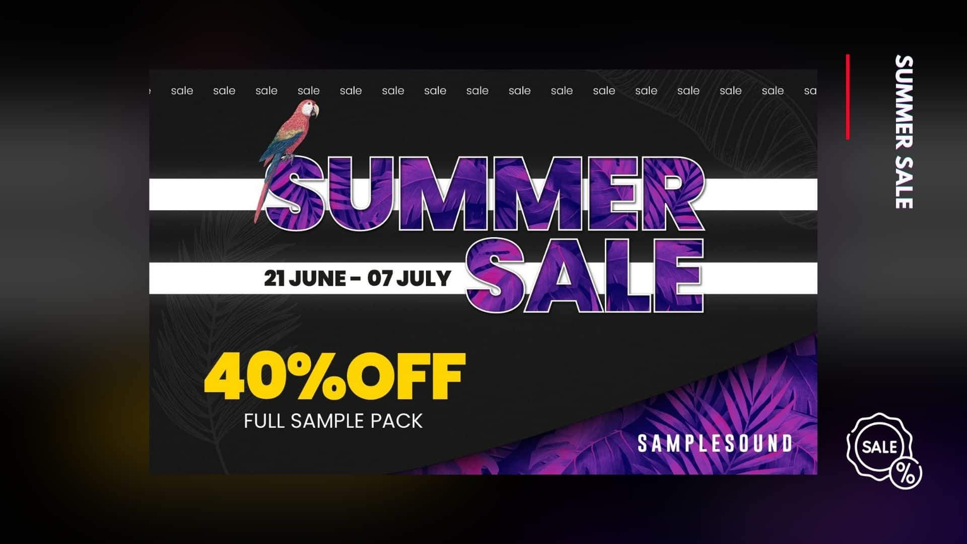 SampleSound Summer sale